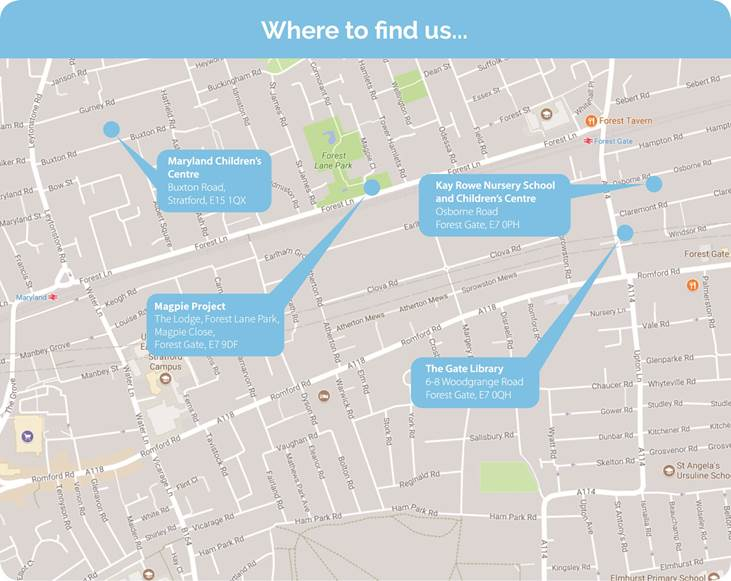 Children's Centre Map